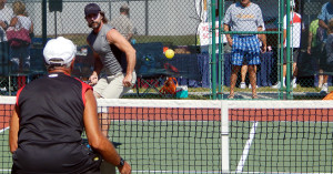 Players in Men's Doubles Pickleball Tournament (ages 50-54) Tampa Bay Senior Games 2013, Sun City Center [DAY TWO: Saturday, October 26, 2013]