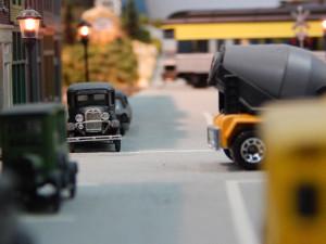 Miniature HO size classic cars at the Sun CIty Center Model Railroad Club, Sun City Center, FL