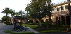 Outside at the South Club House in the Kings Point neighborhood of Sun City Center, Florida