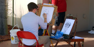 PORTRAIT ARTIST at 2013 Golf Cart Parade, Sun City Center, FL