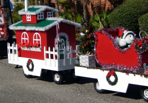 ASSOCIATION Category - 1st Portsmouth with Christmas train at Sun City Center Golf Cart Parade 2013