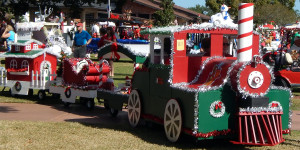 PORTSMITH CHRISTMAS TRAIN 1st in association category at 2013 Golf Cart Parade in Sun City Center