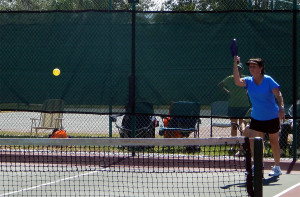 Pickleball Women's Doubles at Tampa Bay Senior Games 2013, Sun City Center, Florida [DAY ONE: Friday, October 25, 2013]