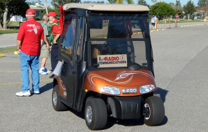 RADIO COMMUNICATIONS golf cart getting ready for the Sun City Center Golf Cart Parade 2013