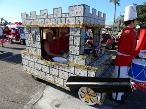 INDIVIDUAL Category - 1st Ron R. with his customized castle golf cart in the Sun City Center Golf Cart Parade 2013