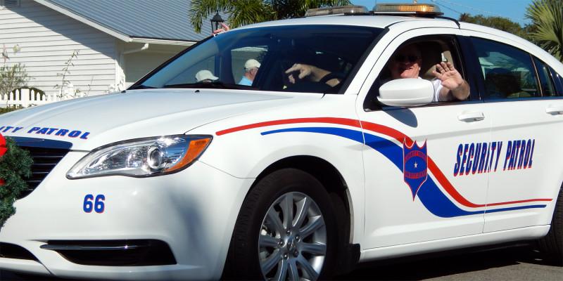 Scc Security Patrol Car In Sun City Center Holiday Golf
