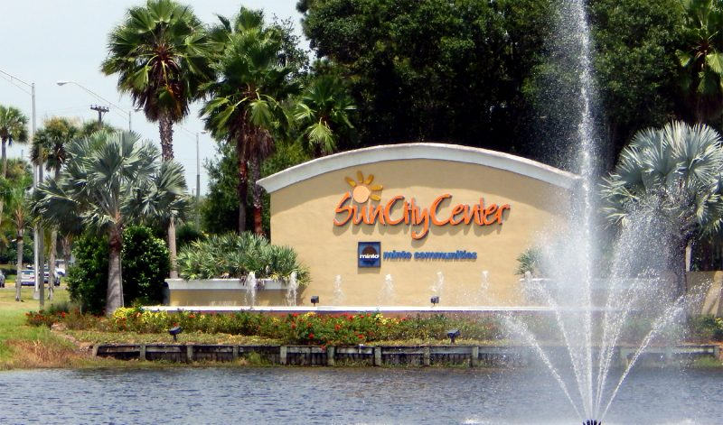 Welcome Sign to Sun City Center [staff photo]