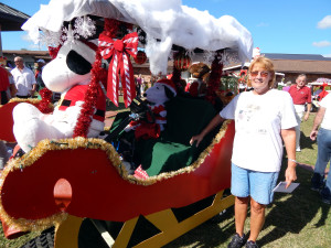 SLEIGH 2nd INDIVIDUAL category at Sun City Center Holiday Golf Cart Parade 2013