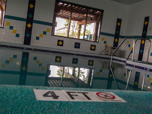Small 4 foot heated pool at South Clubhouse in Kings Point, Sun City Center, FL