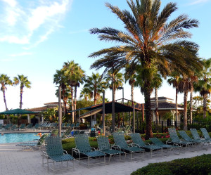 South Club Outdoor Pool in Kings Point, Sun City Center, Florida