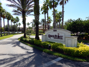 South Club entrance sign in Kings Point, Sun City Center, FL