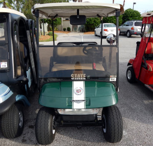 Spartan Michigan State Customized Golf Cart