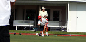 Sun City Center Lawn Bowling Club members practing