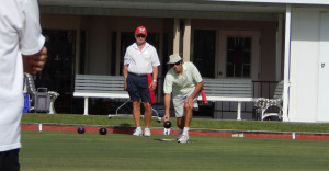Sun City Center Lawn Bowling Club practicing at Eberhardt Building on N Pebble Beach Blvd