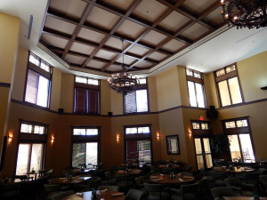 Two story ceilings at Amicis Restaurant at Club Renaissance in Sun City Center, FL
