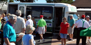 VEGI BUS at the 2013 Golf Cart Parade in Sun City Center