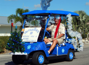 VERSAILLES III with ELVIS golf cart in Sun City Center Holiday Golf Cart Parade 2013