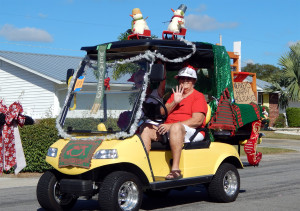 WEAVERS CLub in Sun City Center 2013 Holiday Golf Cart Parade