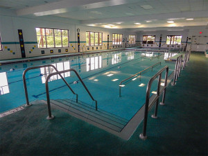 Steps going down in the water in Indoor Pool at South Clubhouse in Kings Point