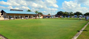 Wide view of Lawn Bowling lanes on North Pebble Beach Blvd in Sun City Center, FL