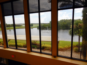 Window view while visiting upstairs Bar at Kings Point South Club Sun City Center, FL
