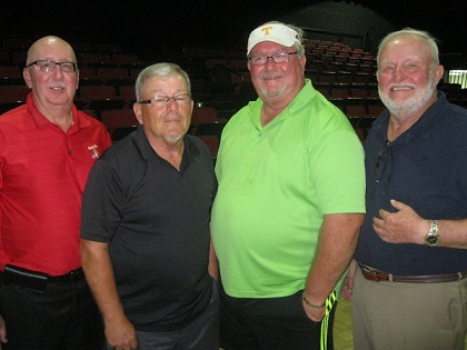 Winners of Bridging Freedom 2013  Golf Tournament at Falcon Watch in Sun City Center,  L to R  Joe DeFelice, Tom Rosata, Ruben Jones, and Rich Lucidi