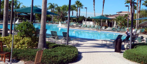 Outdoor pool at Kings Point South Clubhouse on Thanksgiving 2013