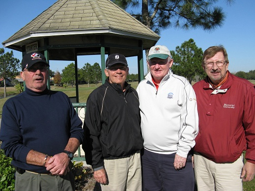 L ro R Bill Smythe, Mike Arghittu, Jack Phillips, Rex Gibbons | Hogans Golf Club Of Sun City Center and Kings Point [submitted by Pam Jones]