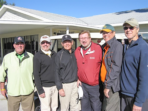 L to R Bill Smythe, Norm Taylor, Mike Arghittu, Rex Gibbons, John Colgren, Doug McFaul | Hogans Golf Club Of Sun City Center and Kings Point [photo submitted by Pam Jones]