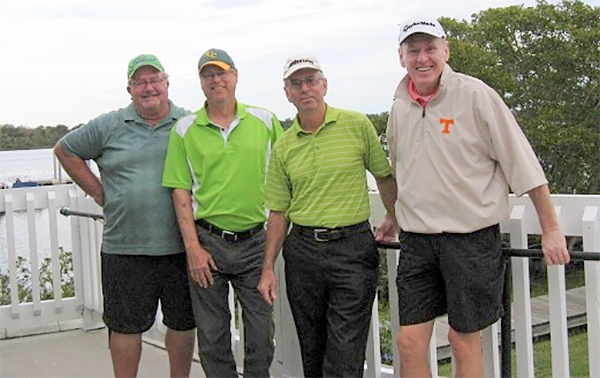 L to R Ruben Jones, John Colgren, Jim Sari, and Steve Parks | Hogans Golf Club Of Sun City Center and Kings Point [photo submitted by Pam Jones]