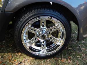 14 inch SS Chrome Wheels on 2014 YAMAHA Golf Cart