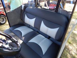 Bench seating in 2014 Yamaha golf cart
