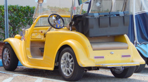 Canary Yellow California Roadster Golf Cart, Sun City Center, FL
