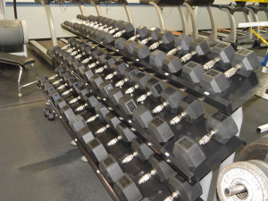Dumbell rack 5LBS to 80LBS at Fitness Center in Sun City Center FL