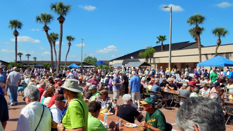 Food Court at Fun Fest 2014, Sun City Center, FL