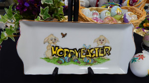 Hoppy Easter glass tray at Sun City Center China Painters Club