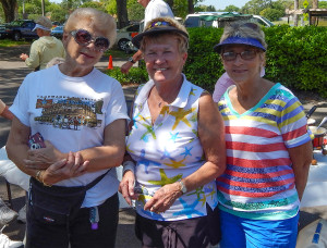 Kings Point Tennis Tournament 2014 L to R Betty Fererra (Secretary), Donna Rupert (President), Brenda Hartman (VP)