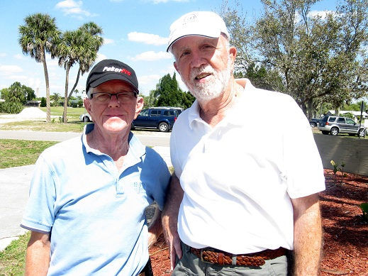 L to R: Hank Smythe, Ray Curry | Hogans Golf Club Sun City Center FL [submitted by Pam Jones]