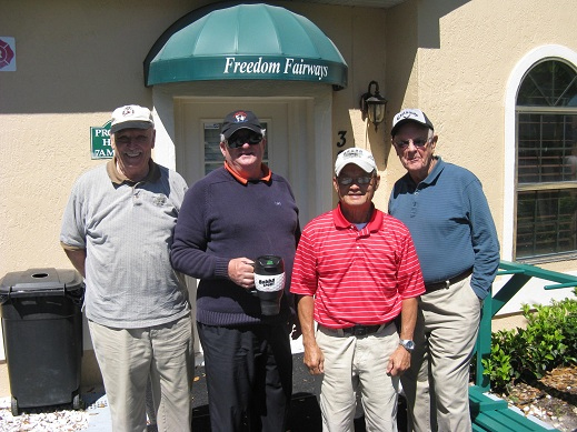Left to Right Don Koester, Charlie Brown, Ray Bui, and Bob Hull |Hogans Golf Club Sun City Center and Kings Point [submitted by Pam Jones]