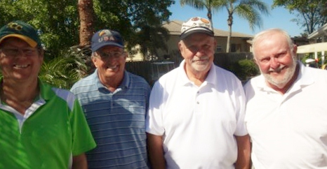 L to R: John Colgren, Ray Webb, Charlie Gebauer, and Rich Lucidi | Hogans Golf Club of Sun City Center and Kings Point [submitted by Pam Jones]