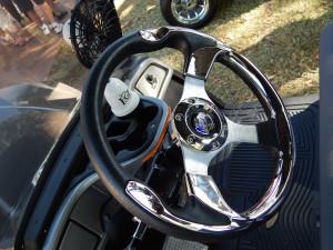 MAD JAX Steering Wheel on 2014 Yamaha Golf Cart