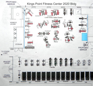Fitness Center (1st FL) Layout for 2020 Building in Kings Point, Sun City Center, FL