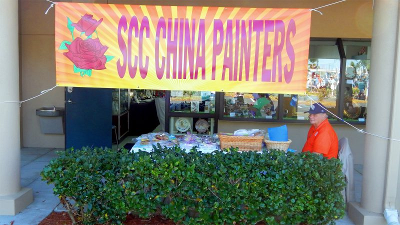 Sun City Center China Painters banner at Fun Fest 2014