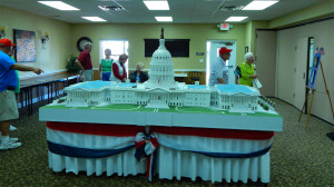 U S Capital model by Don Crescent and Shirley in Heritage Room at Fun Fest 2014, Sun City Center, FL