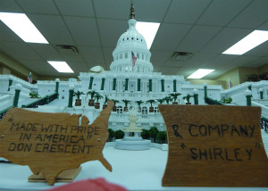 U S Capital replica model made with pride by Don Crescent and Shirley