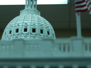 model dome of US Capital by Don Crescent at Fun Fest 2014, Sun City Center, FL