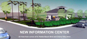 3D layout of new Information Center at Sun City Center Community Association, N Pebble Beach Blvd and Cherry Hills Drive