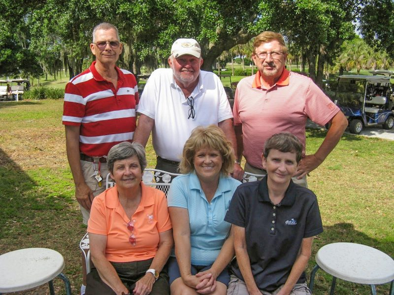 Back Row Left to Right Bill Barron, Rich Lucidi, and Rex Gibbons, Front Row Left to Right Charlene Peter, Jackie Amos, and Jenice Taylor Sun City Center | Hogans Golf Club of Sun City Center and Kings Point