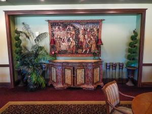 Banquet Room wall decor at Club Renaissance in Sun City Center, FL