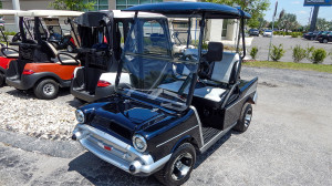 Black 1957 Chevy Bel Air Club Car Golf Cart